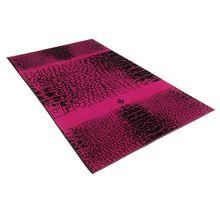 Crocodile cranberry beach towel