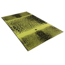 Crocodile meadow green beach towel