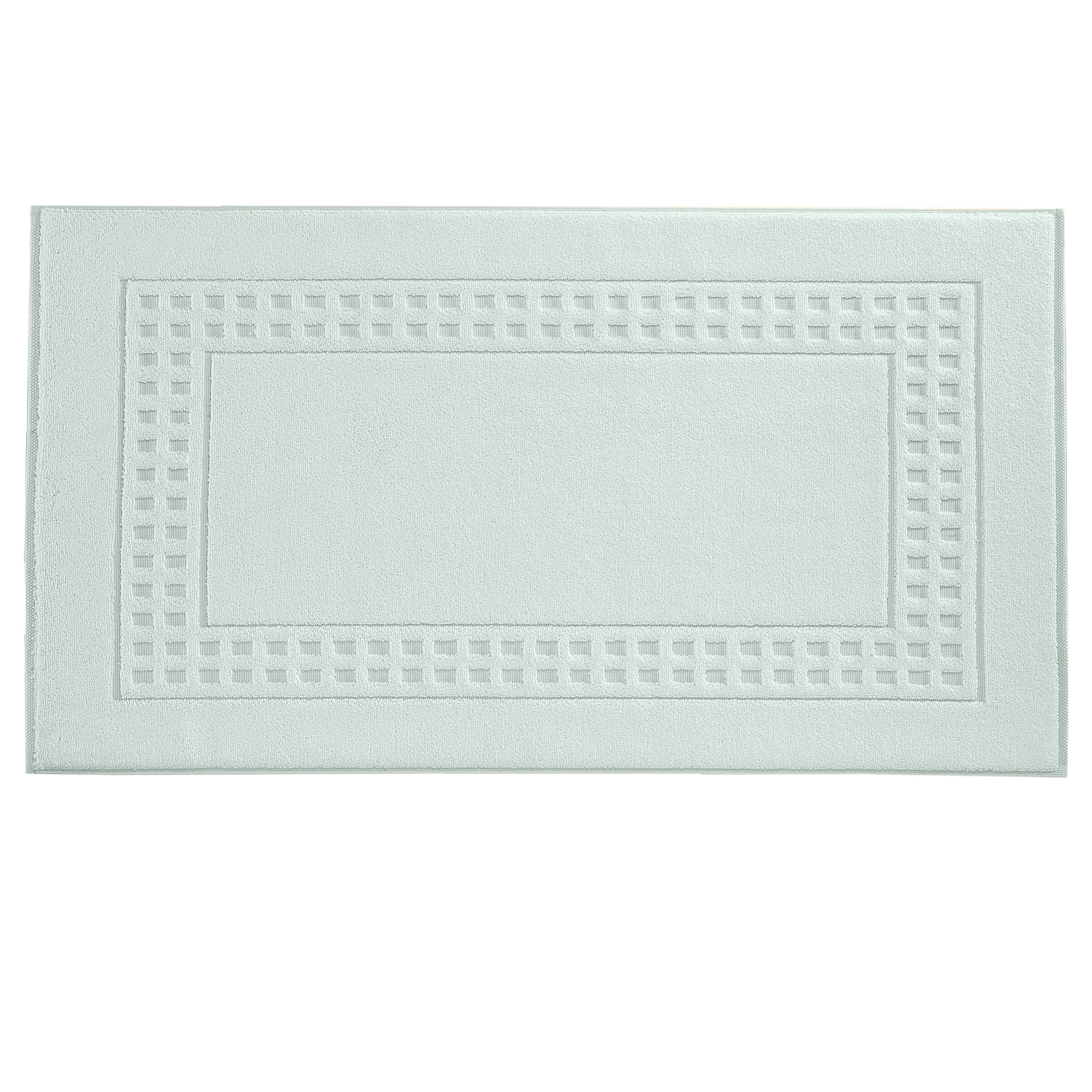 Country  bath mat in mintcream/ivory
