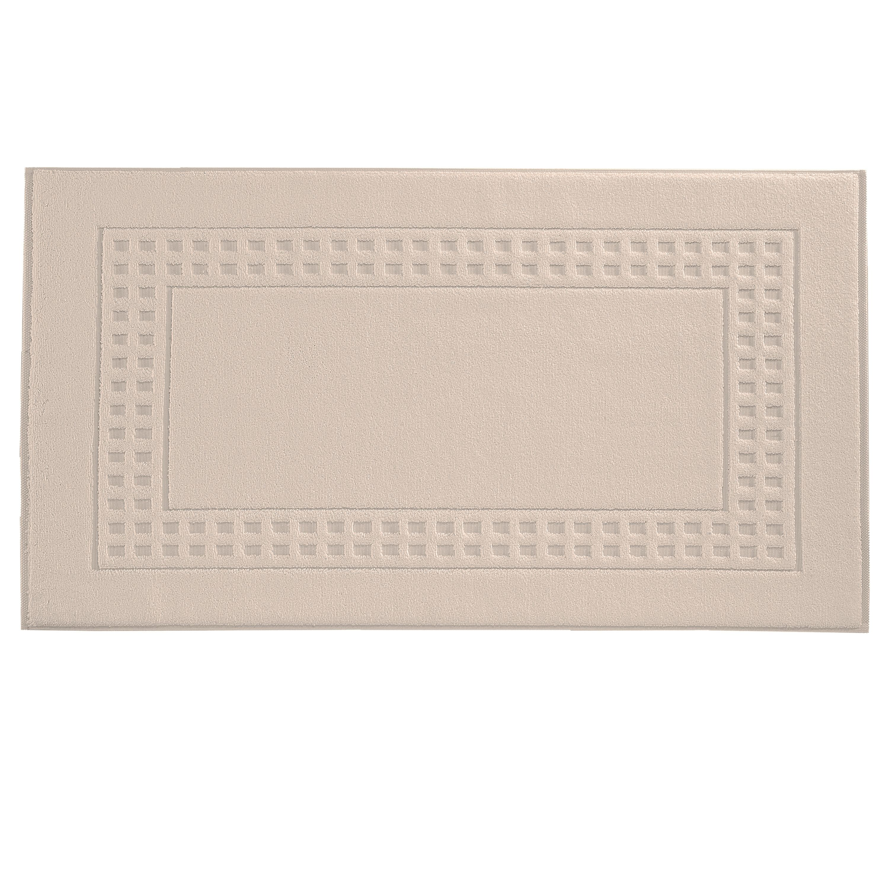 Country  bath mat in tibet/ivory