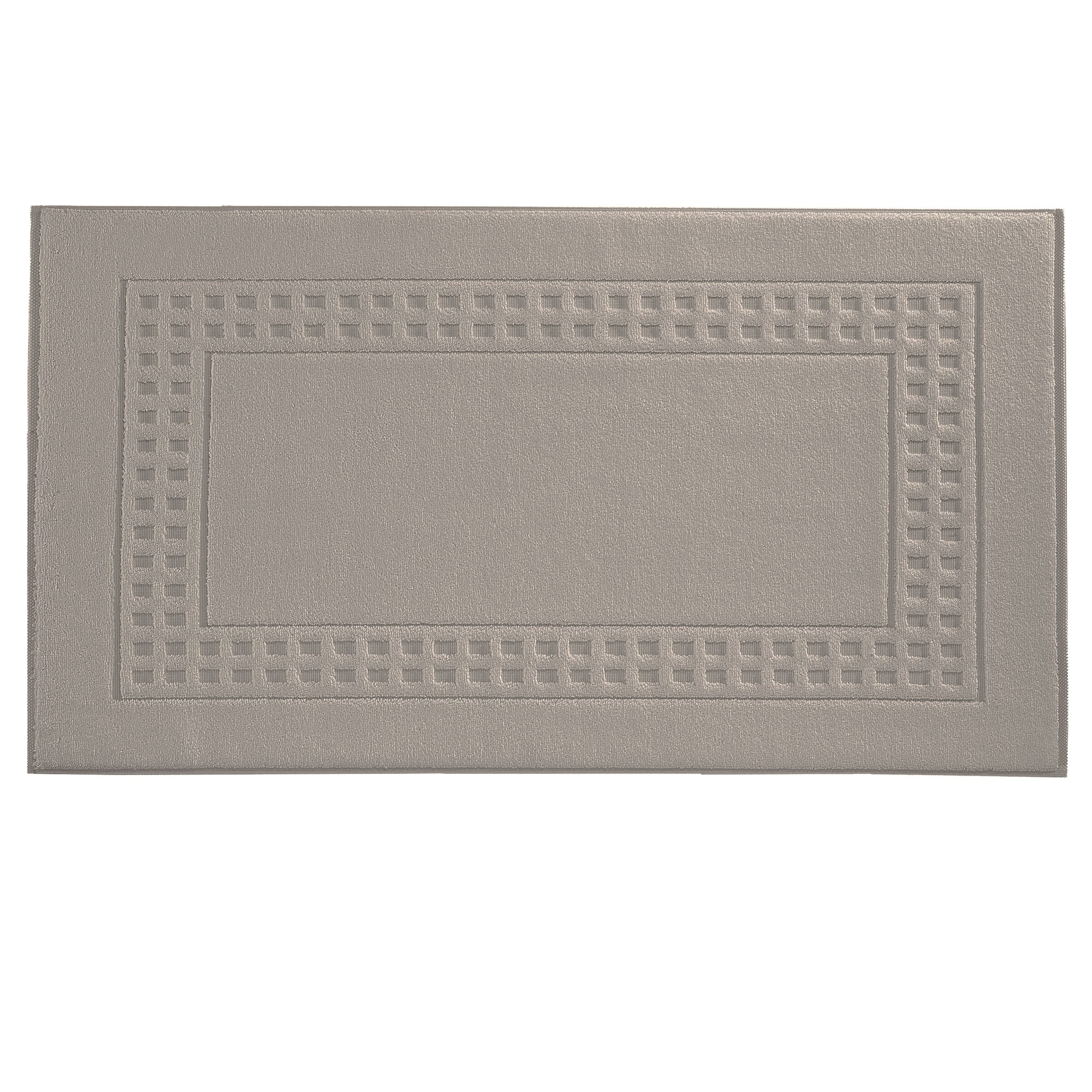 Country  bath mat in timber/ivory