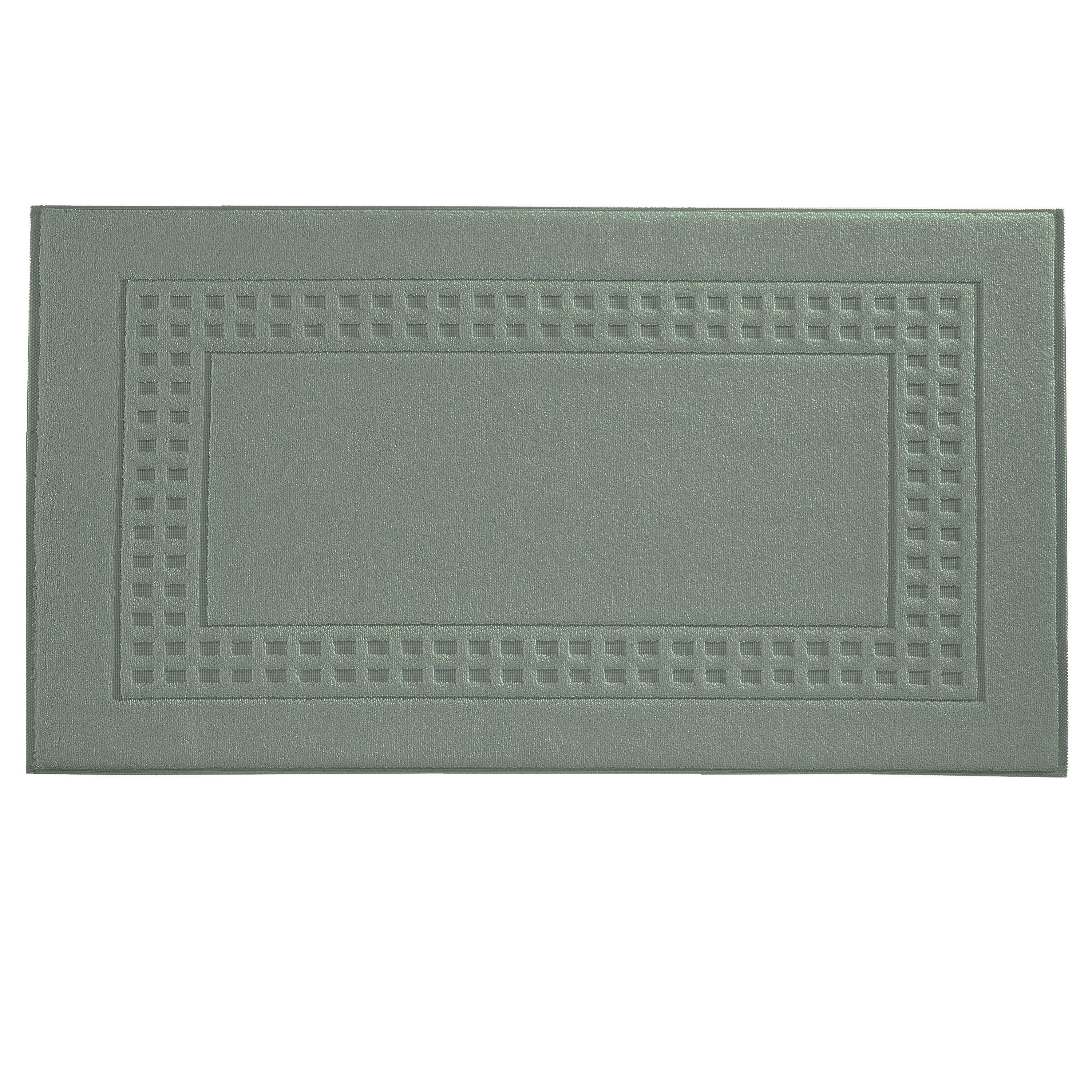 Country  bath mat in dimgrey/ivory