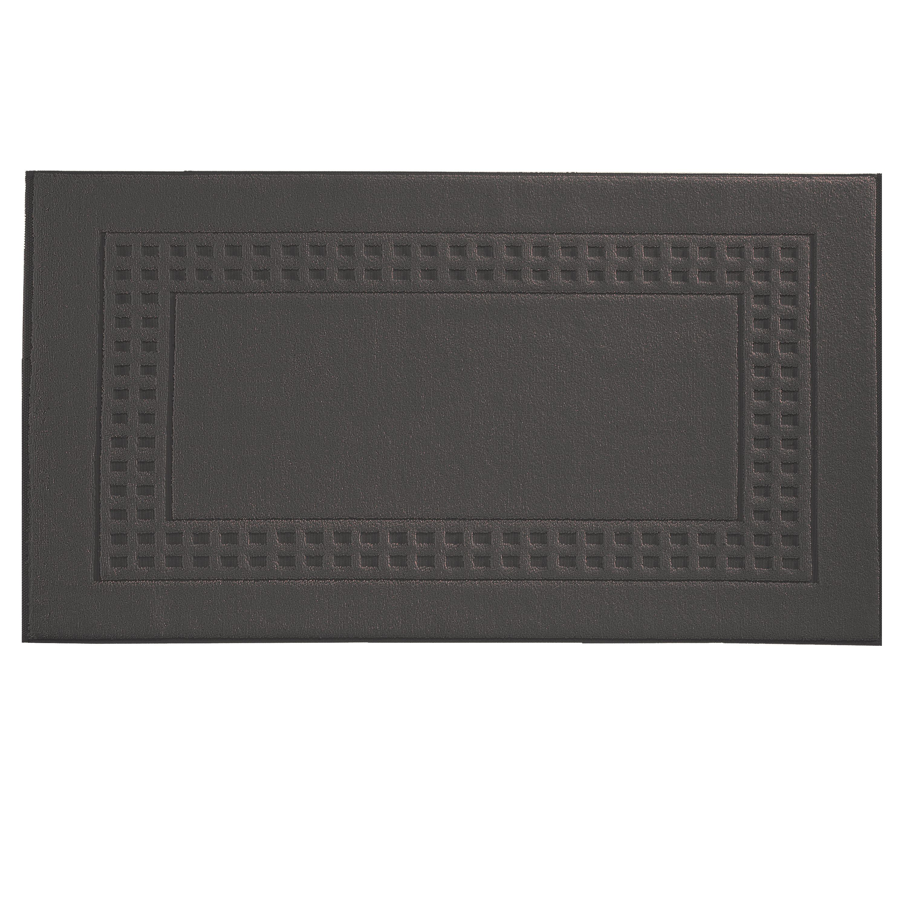 Country  bigger bath mat in slate grey/ivory
