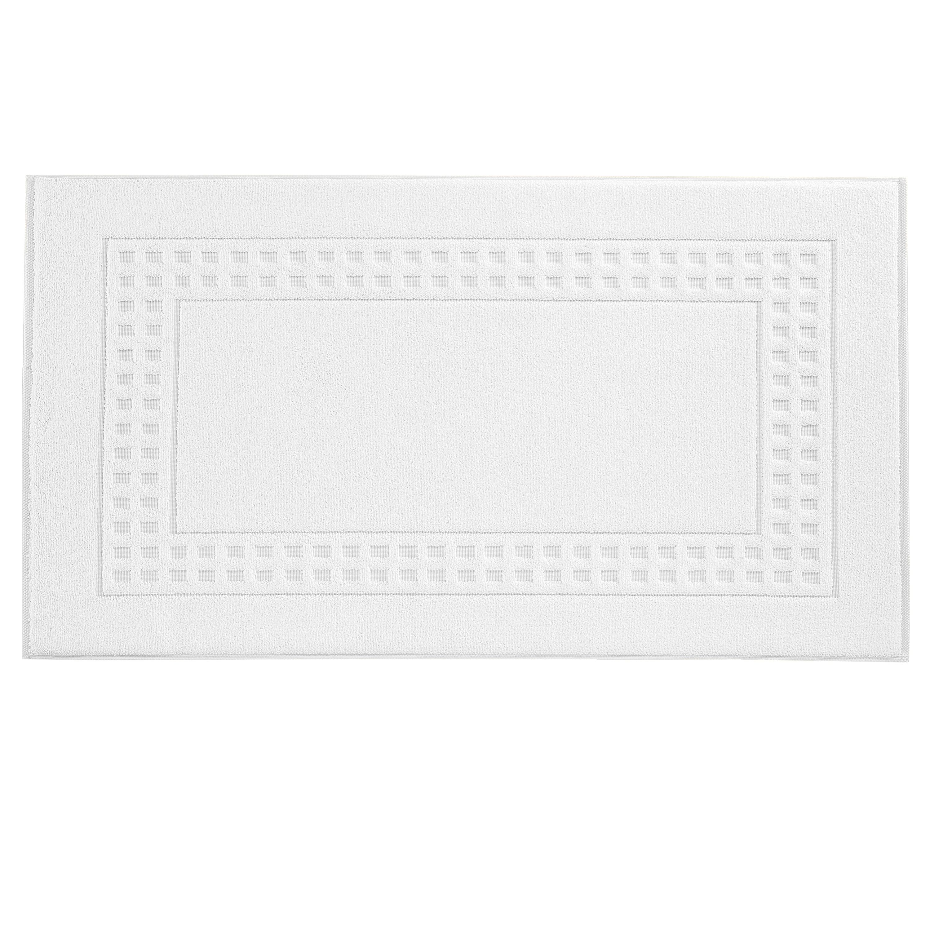 Country  bath mat in white/ivory