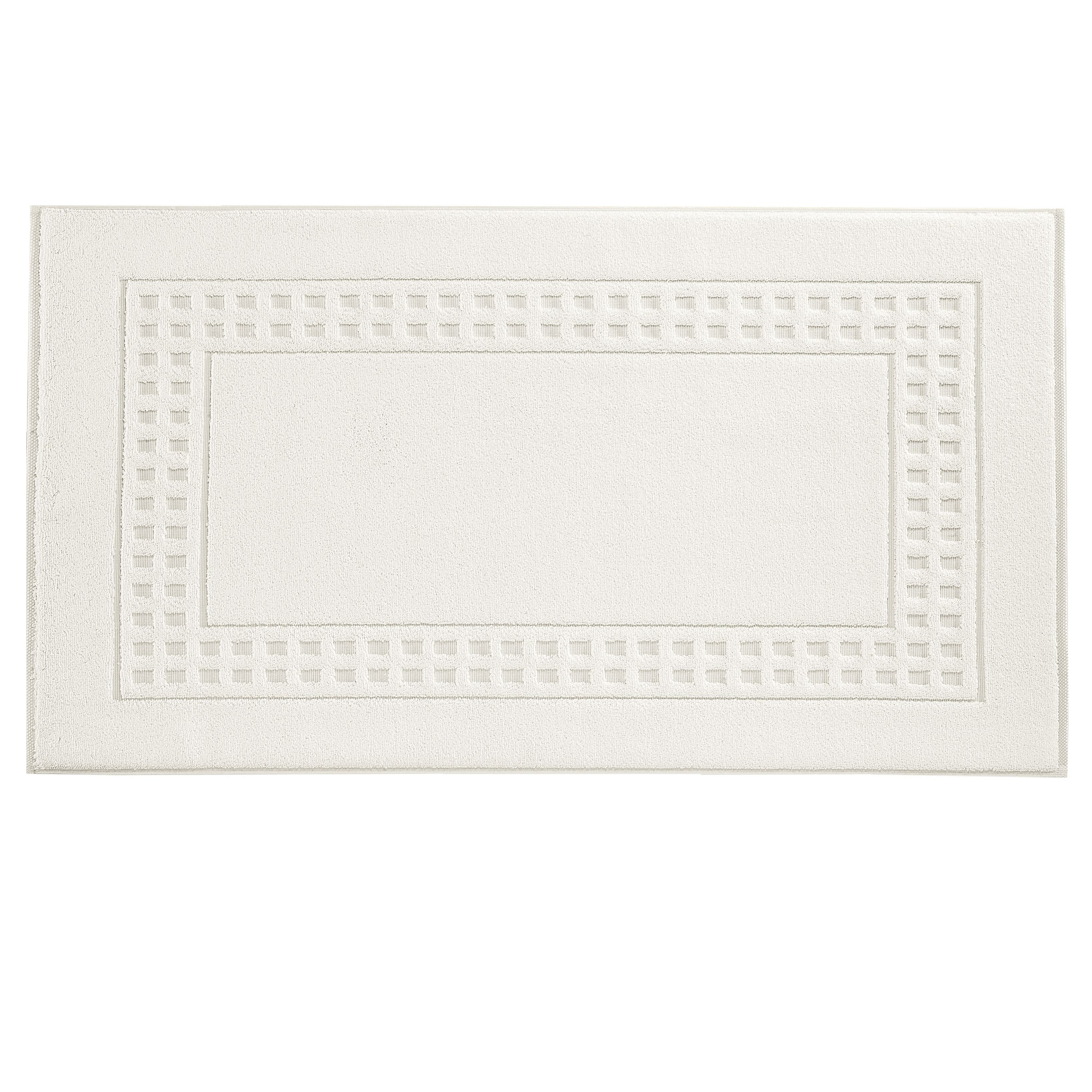 Country  bath mat in ivory/ivory