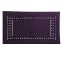 Country  bath mat in deep purple/ivory