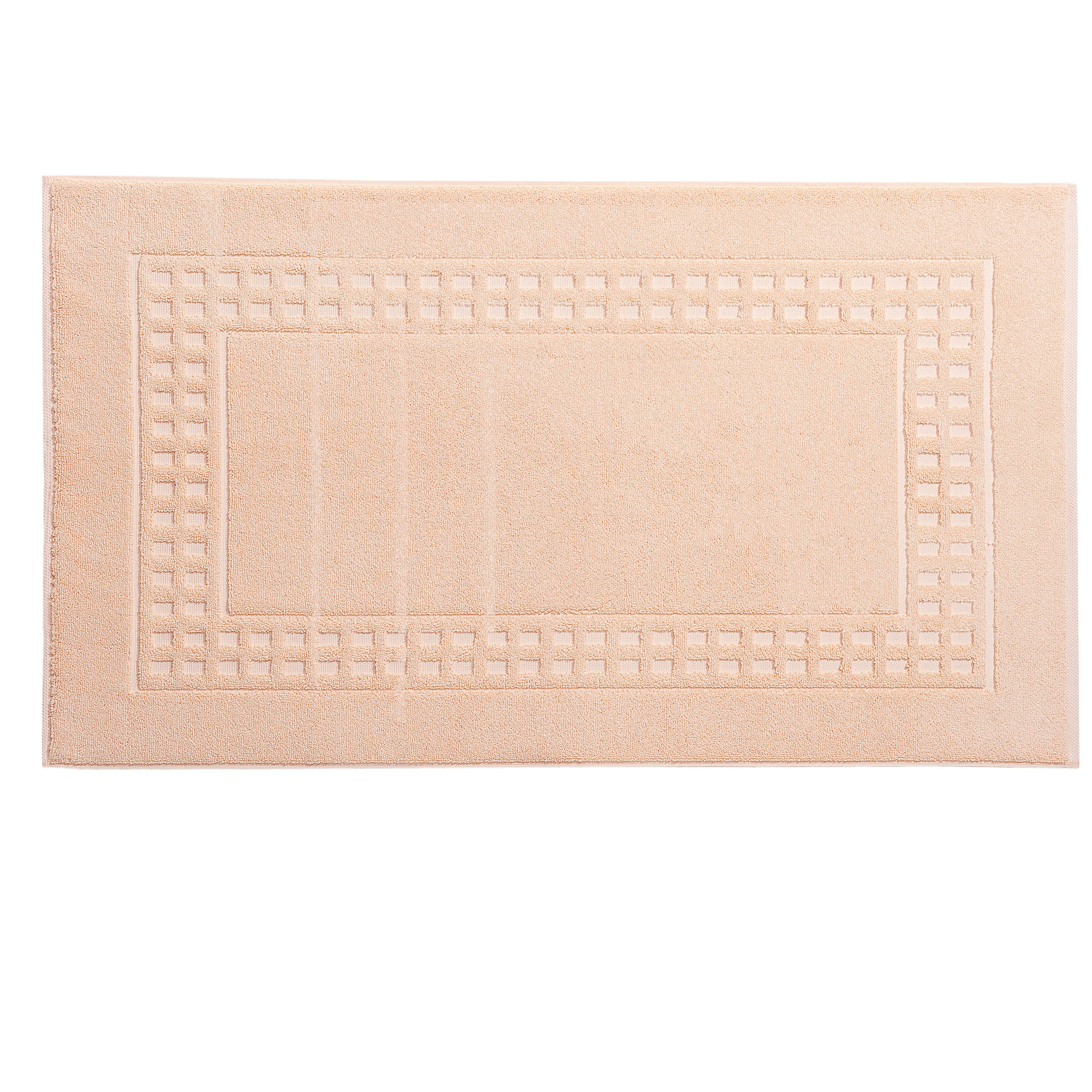 Country  bath mat in daisy/ivory