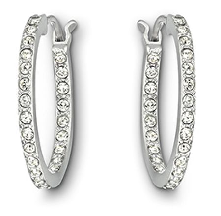 Swarovski Summerset hoop pierced earrings