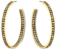 Large colour reel hoop earrings
