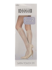 Wolford 20d satin touch knee high promo