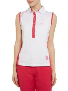 Drytouch sleeveless pattern polo