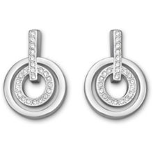 Swarovski Circle mini pierced earrings