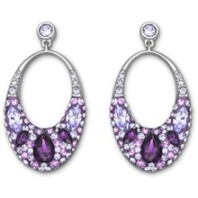 Vividness pierced earrings