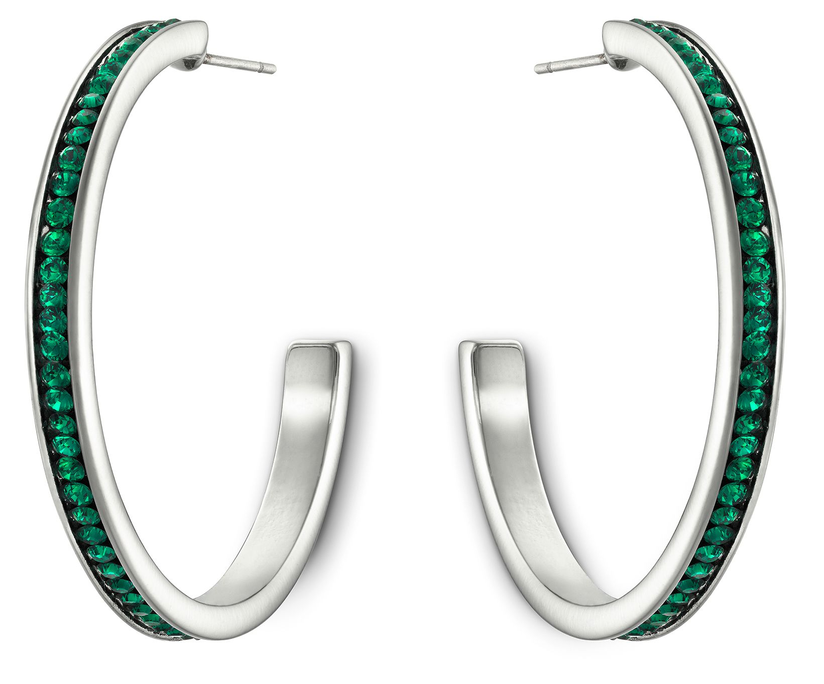 Color reel hoop earring