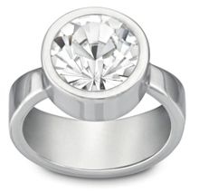 Round solitaire simple ring