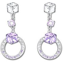 Swarovski Gemoetric pierced earrings