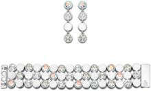 Round solitaire tennis bracelet & earrings set