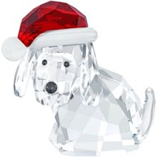 Swarovski Dog with santa`s hat