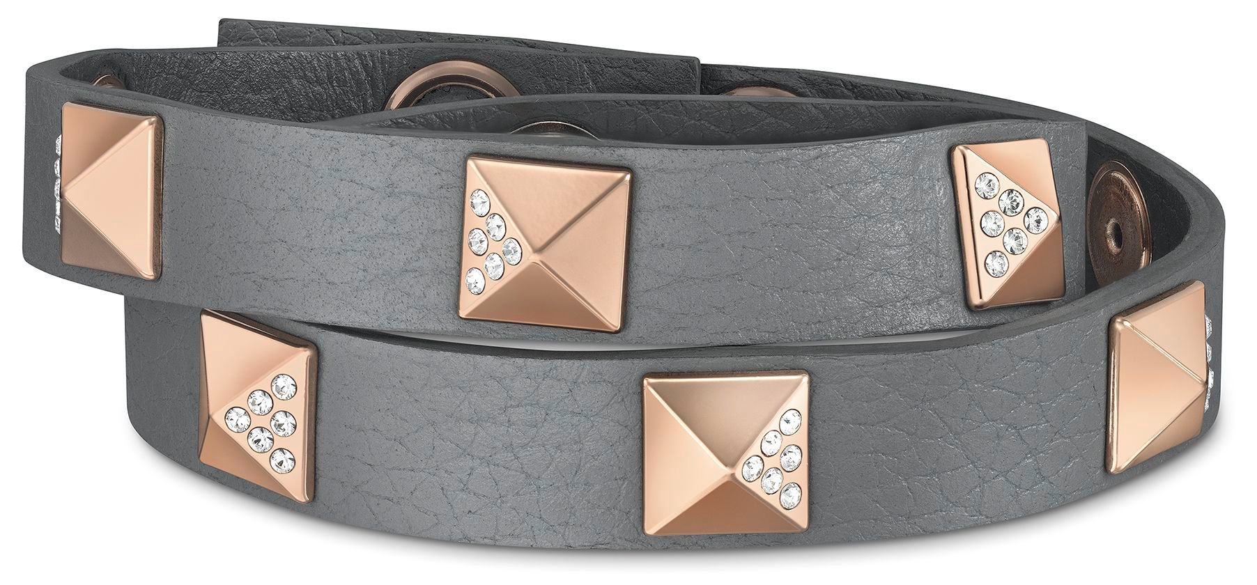 Stud single leather bracelet
