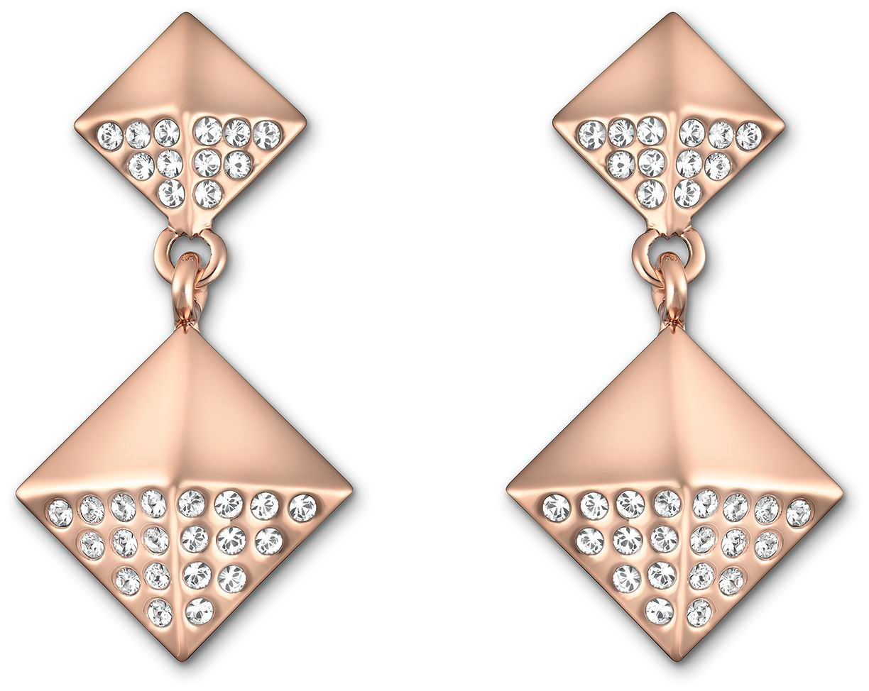 Stud double drop earrings