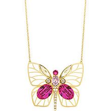 Bloom long butterfly pendant