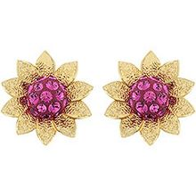 Bloom pierced earrings
