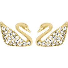 Swarovski Swan mini pierced earrings