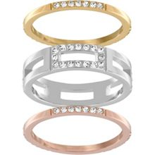 Swarovski Cubist ring set