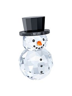 Snowman with hat ornament