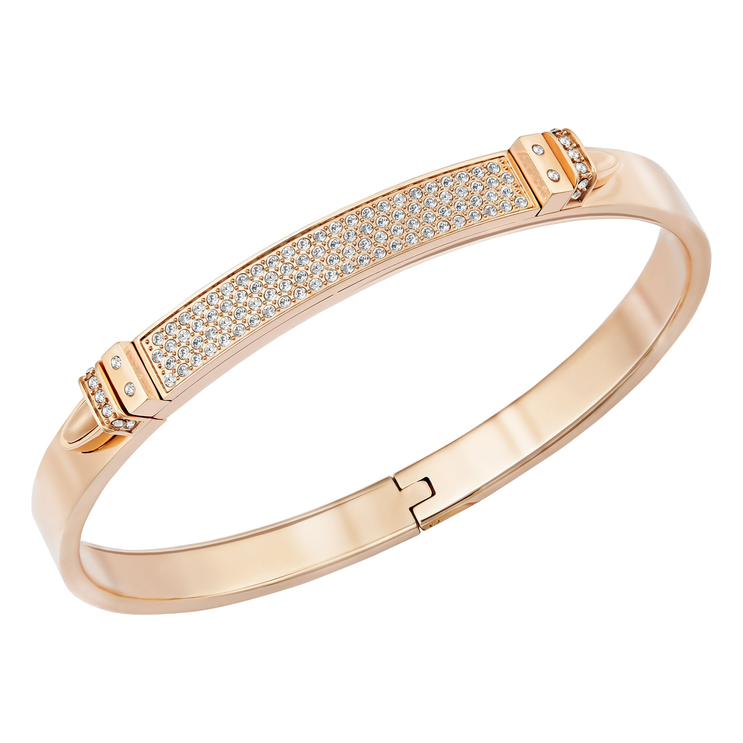 Swarovski Distinct Bangle, Rose Gold