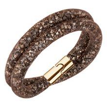 Swarovski Stardust Brown Double Bracelet