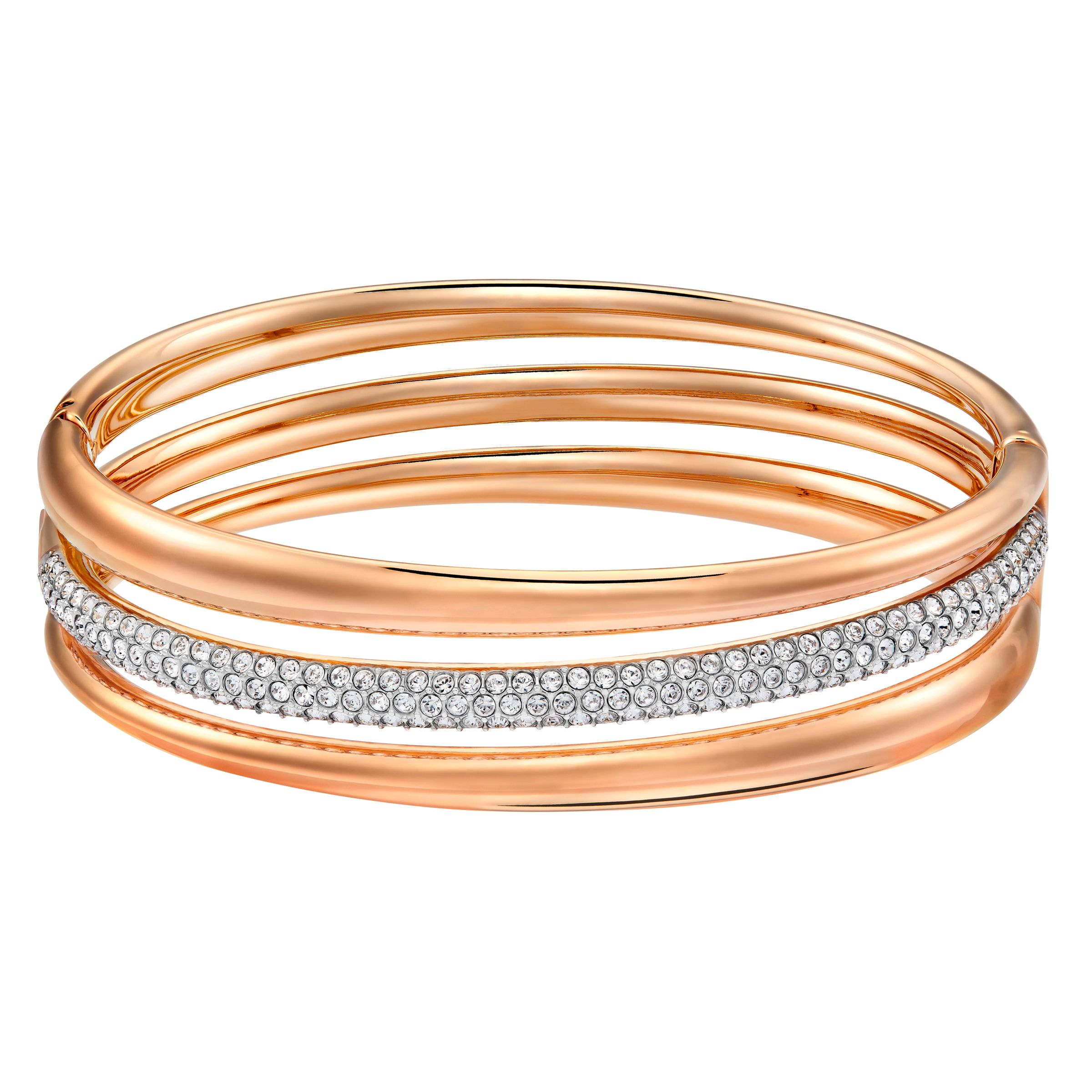 Swarovski Exact bangle, Rose Gold