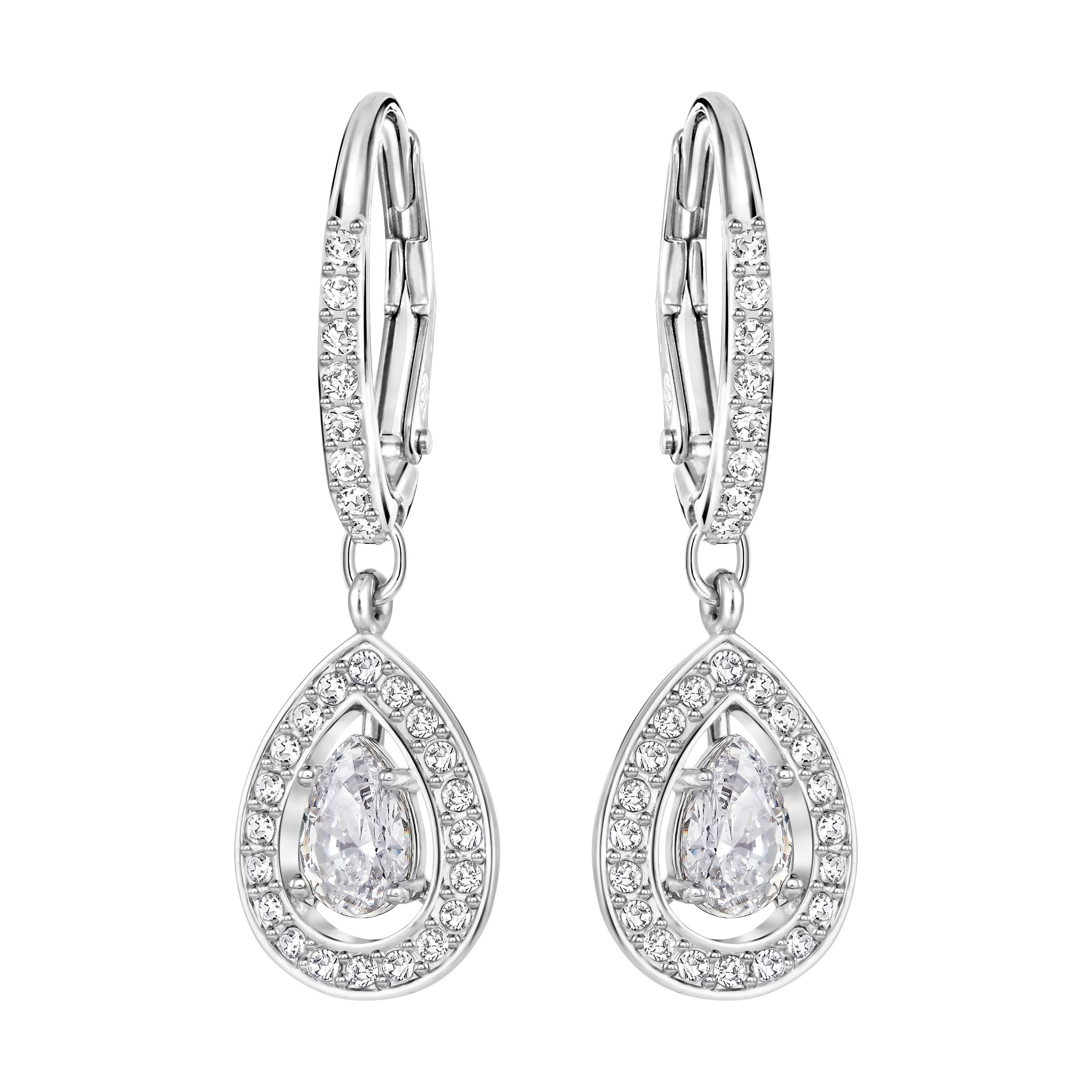 Swarovski Attract light earrings, Silver