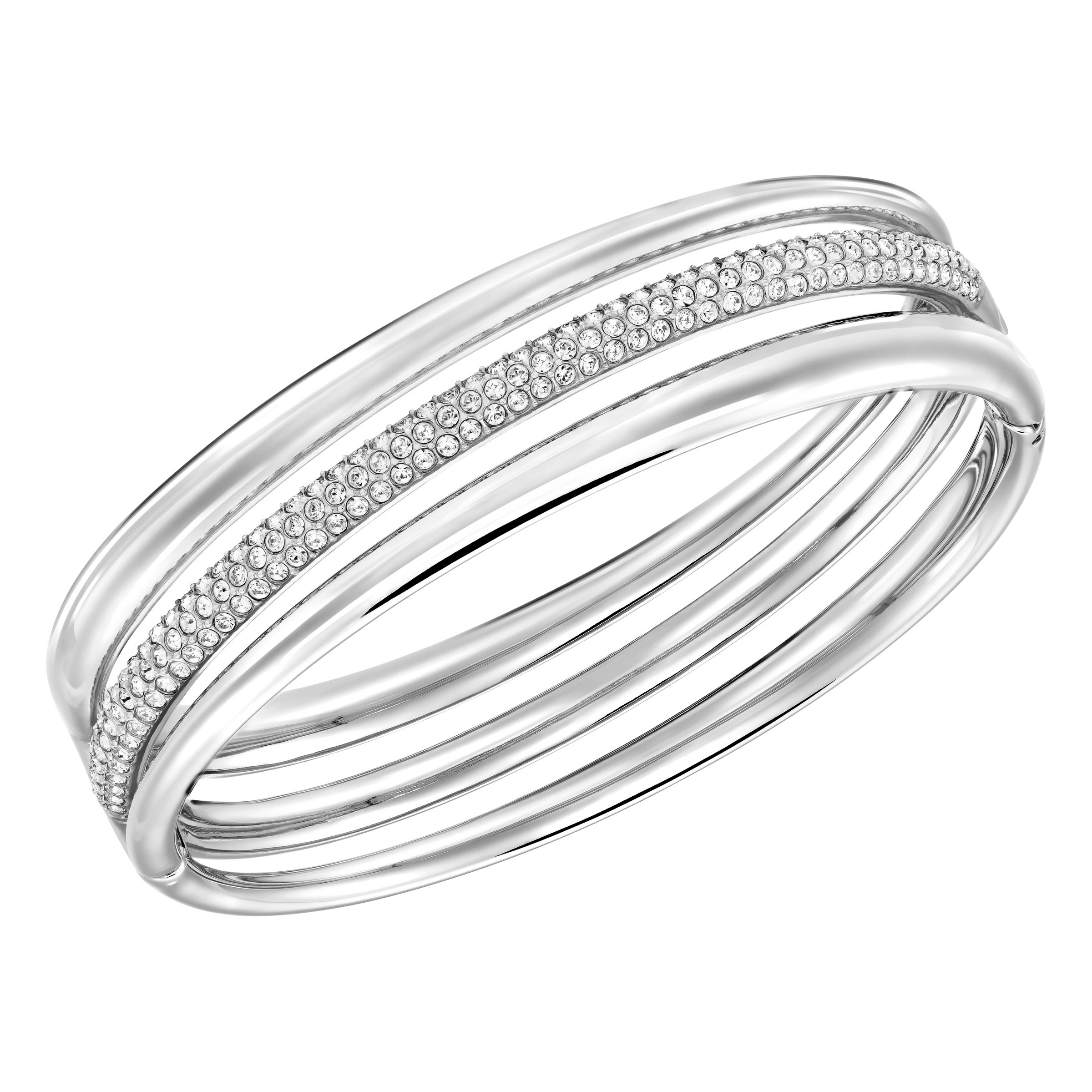 Swarovski Exact bangle, Silver