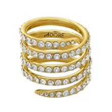 Adore Gold Plated Pave Coil Ring