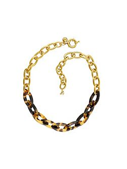 Gold Resin Bold Necklace