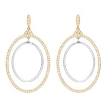 Swarovski Gilberte hoop pierced earrings