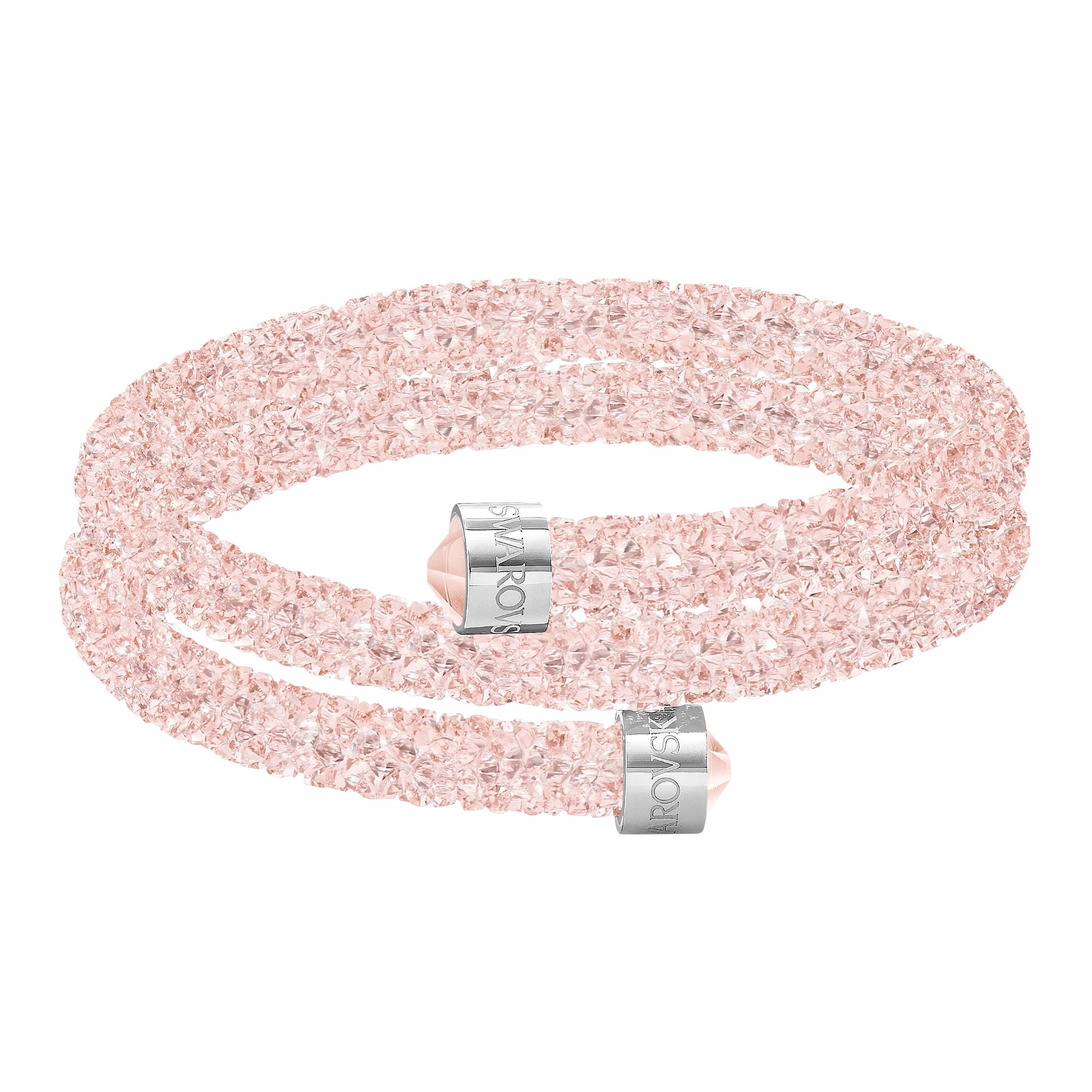 Swarovski Crystaldust double bangle, light pink, Pink