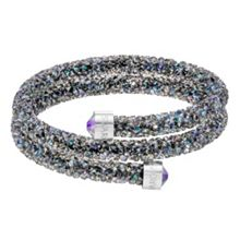 Swarovski Crystaldust double bangle, purple