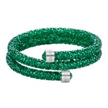 Swarovski Crystaldust double bangle, green