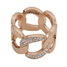Adore Pave Curb Link Ring