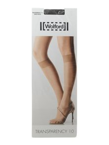 Wolford Transparency 10 denier knee highs