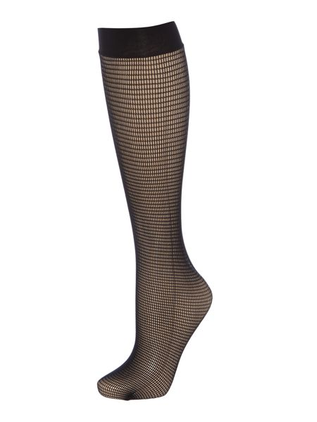 Wolford Grid knee high socks