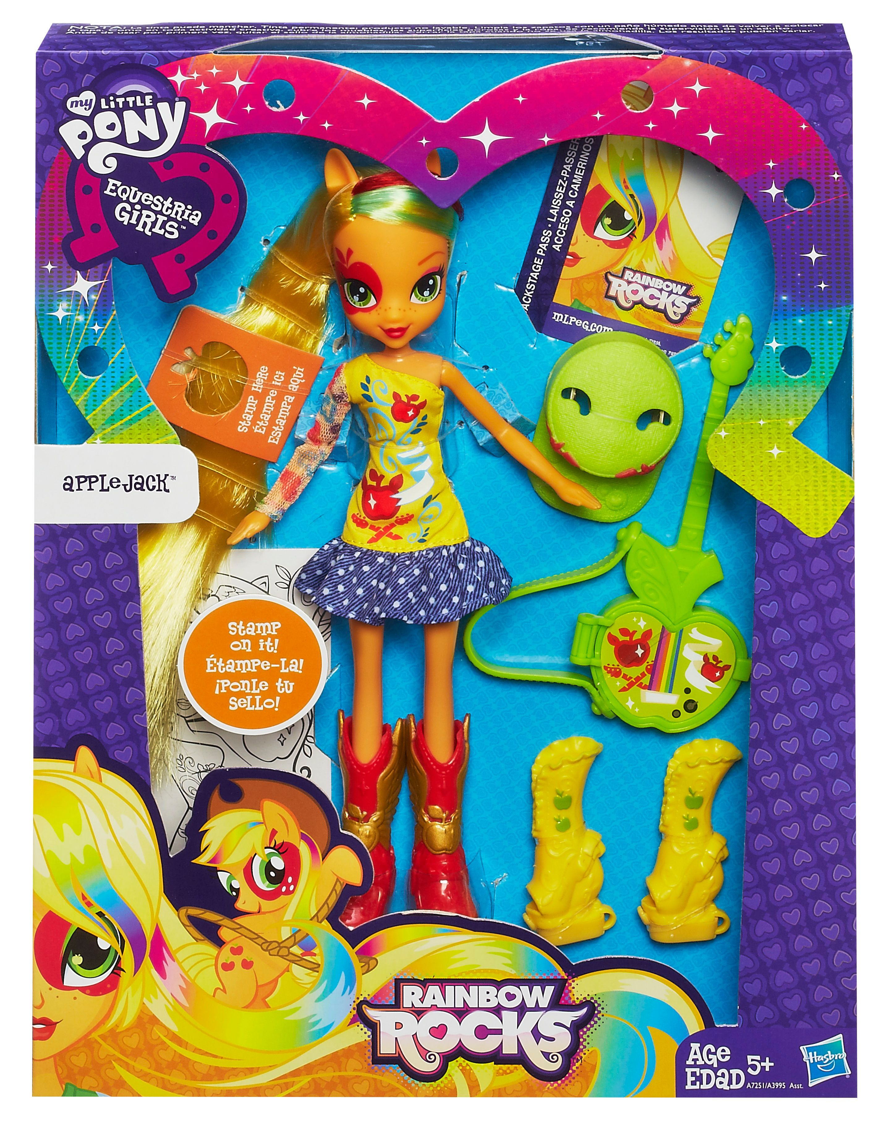 My little Pony Applejack Rocks Equestria Girls