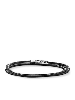 Charm club faux leather cord