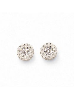 Classic Round White Ear Studs