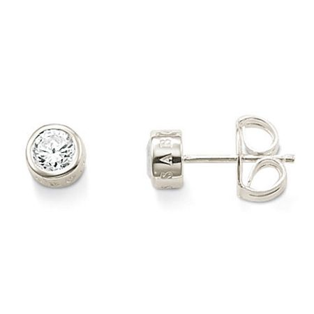 Thomas Sabo Classic Medium White Zirconia ear studs