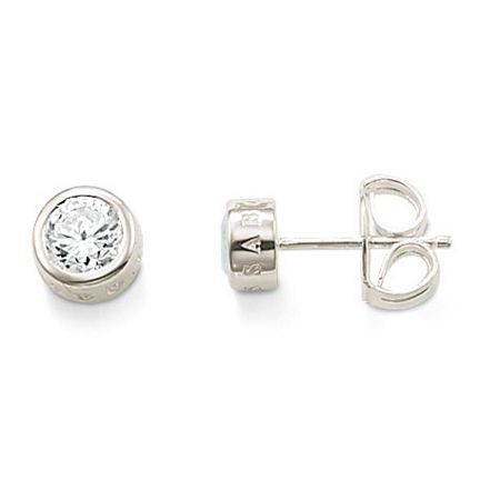 Thomas Sabo Classic Large White Zirconia ear studs