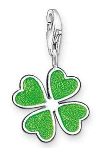 Charm Club Green Clover Leaf