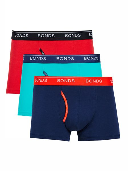 Bonds Mens 3 Pack Guyfront Trunk
